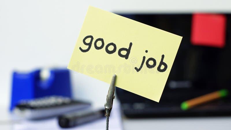 Καλό υπόμνημα εργασίας στοκ φωτογραφία με δικαίωμα ελεύθερης χρήσης