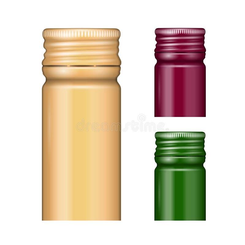 Καλύμματα μπουκαλιών βιδών. απεικόνιση αποθεμάτων