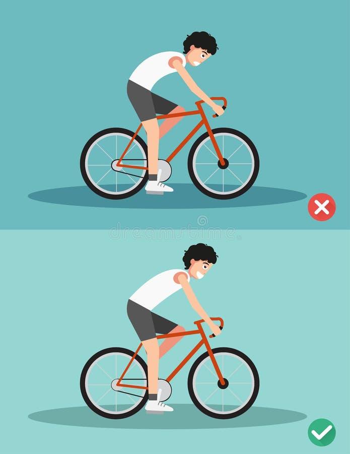 Καλύτερες και χειρότερες θέσεις για την οδήγηση του ποδηλάτου ελεύθερη απεικόνιση δικαιώματος