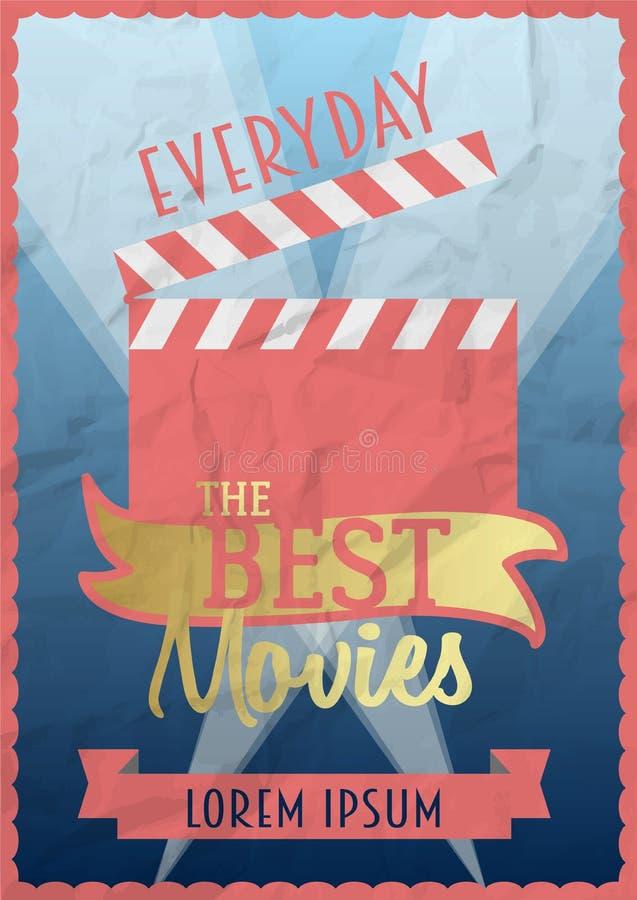 Καλύτερη έννοια σχεδίου αφισών κινηματογράφων διανυσματική απεικόνιση