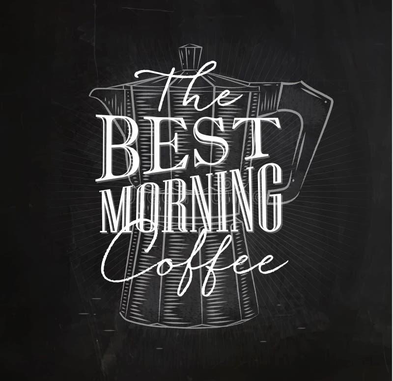 Καλύτερος καφές πρωινού αφισών ελεύθερη απεικόνιση δικαιώματος