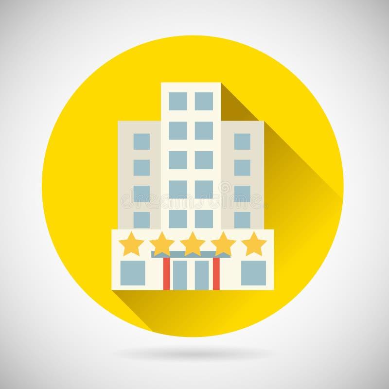 Καλύτερο εικονίδιο υπολοίπου πανδοχείων ξενοδοχείων αστεριών συμβόλων παγκόσμιου ταξιδιού επάνω απεικόνιση αποθεμάτων