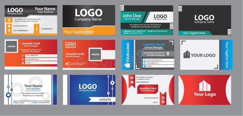 καλύτερο επαγγελματικών καρτών αρχικό διάνυσμα προτύπων τυπωμένων υλών έτοιμο