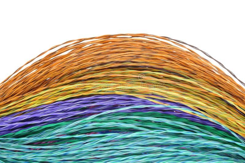 Καλώδια χρώματος δικτύων υπολογιστών στοκ φωτογραφίες
