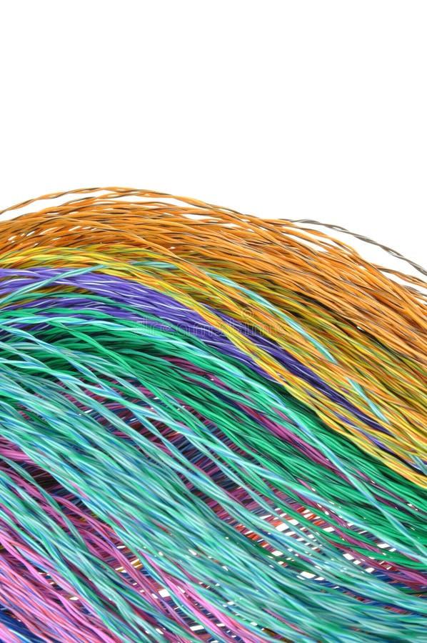 Καλώδια χρώματος δικτύων υπολογιστών στοκ φωτογραφίες με δικαίωμα ελεύθερης χρήσης