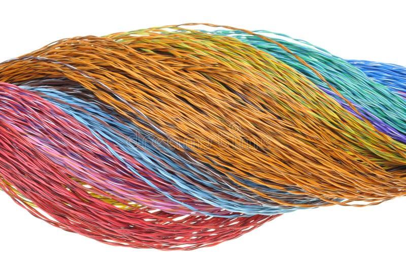 Καλώδια χρώματος δικτύων υπολογιστών στοκ φωτογραφία