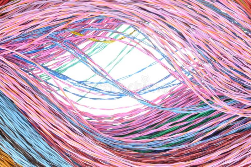 Καλώδια χρώματος δικτύων υπολογιστών στοκ φωτογραφία με δικαίωμα ελεύθερης χρήσης