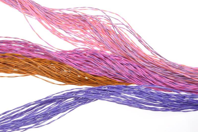 Καλώδια χρώματος δικτύων υπολογιστών στοκ εικόνες