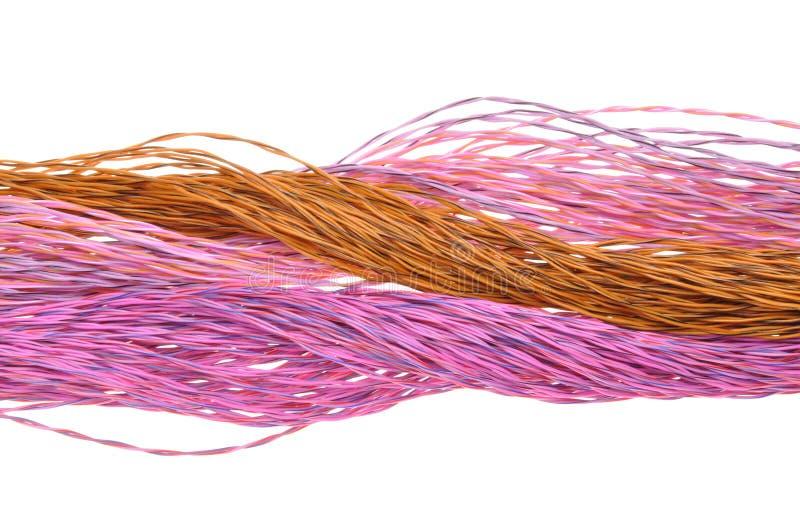Καλώδια χρώματος δικτύων υπολογιστών στοκ εικόνα με δικαίωμα ελεύθερης χρήσης