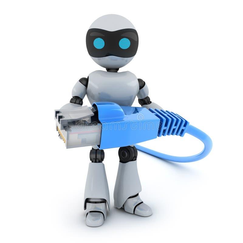 Καλώδιο ρομπότ και υπολογιστών διανυσματική απεικόνιση