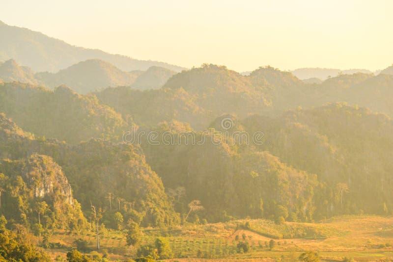 Κα Phayao Ταϊλάνδη Phu Lang Doi στοκ εικόνα