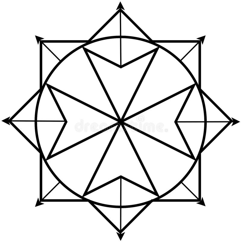 Κβαντικό λογότυπο φυσικής ελεύθερη απεικόνιση δικαιώματος