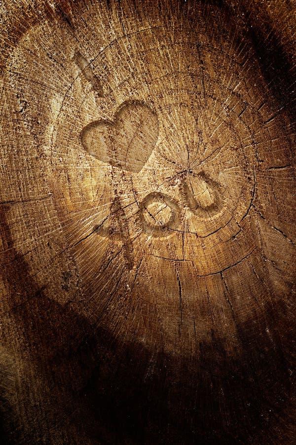 κείμενο αγάπης ανασκόπησης ξύλινο στοκ φωτογραφία με δικαίωμα ελεύθερης χρήσης