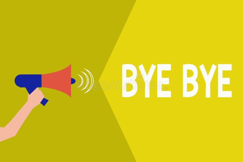 Κείμενο γραφής αντίο Η έννοια που σημαίνει το χαιρετισμό για την αναχώρηση αποχαιρετιστήριος σας βλέπει σύντομα το χαιρετισμό χωρ απεικόνιση αποθεμάτων