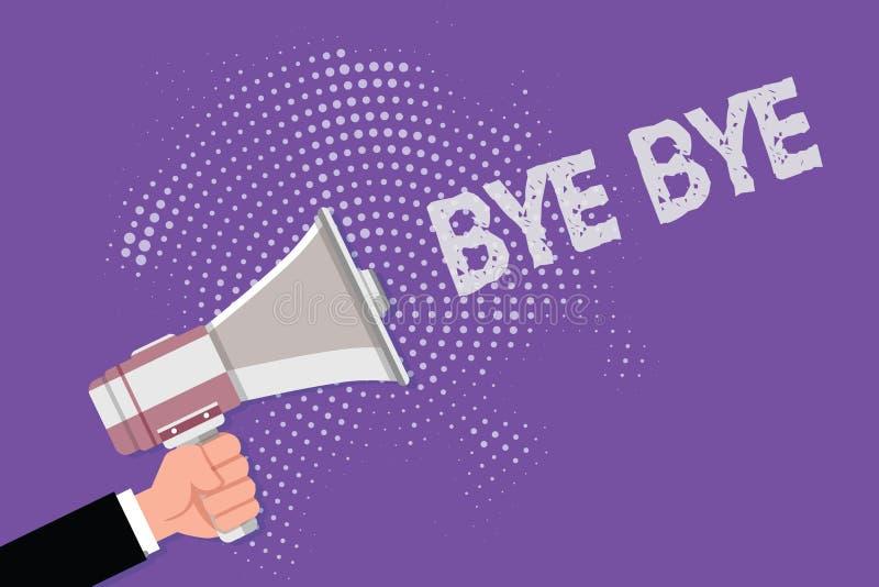 Κείμενο γραφής αντίο Η έννοια που σημαίνει το χαιρετισμό για την αναχώρηση αποχαιρετιστήριος σας βλέπει σύντομα το χαιρετισμό χωρ ελεύθερη απεικόνιση δικαιώματος