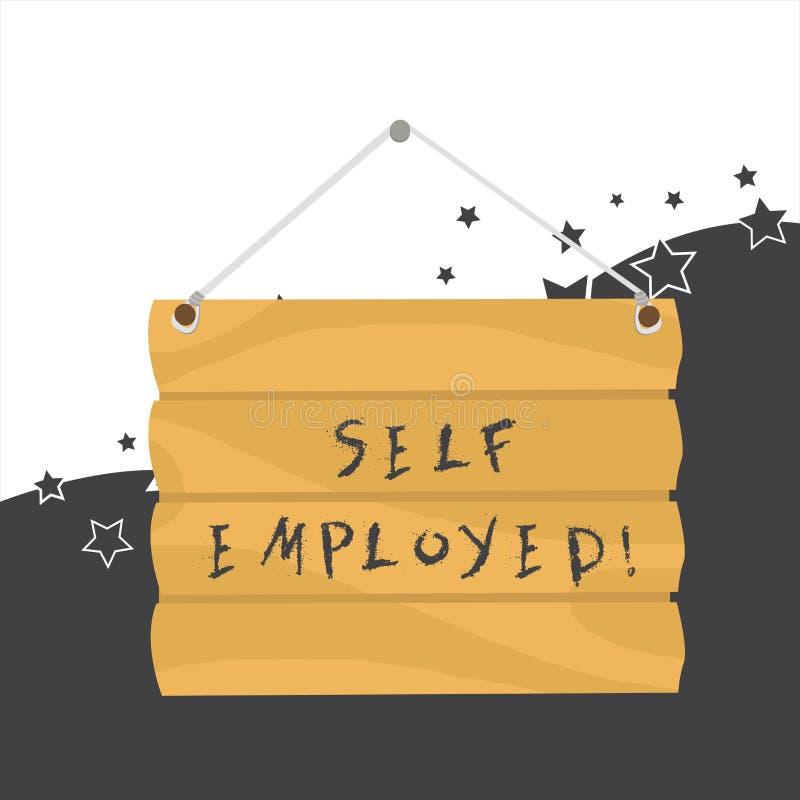 Κείμενο γραφής μόνο - υιοθετημένος Έννοια που σημαίνει τον ιδιοκτήτη μιας επιχείρησης παρά για έναν γάντζο Freelancer εργοδοτών ε απεικόνιση αποθεμάτων