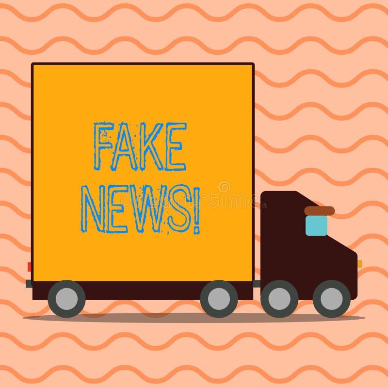 Κείμενο γραφής που γράφει τις πλαστές ειδήσεις Έννοια που σημαίνει τις ψεύτικες ιστορίες που εμφανίζονται να διαδίδουν στο διαδίκ απεικόνιση αποθεμάτων