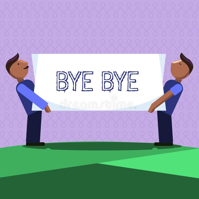Κείμενο γραψίματος λέξης αντίο Η επιχειρησιακή έννοια για το χαιρετισμό για την αναχώρηση αποχαιρετιστήριος σας βλέπει σύντομα το ελεύθερη απεικόνιση δικαιώματος