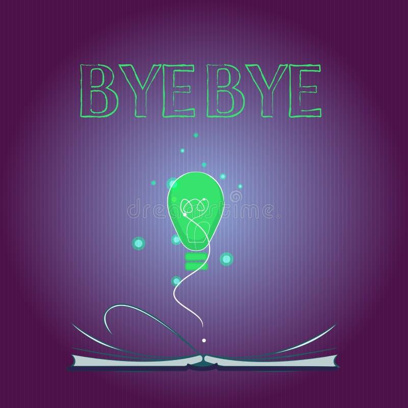 Κείμενο γραψίματος λέξης αντίο Η επιχειρησιακή έννοια για το χαιρετισμό για την αναχώρηση αποχαιρετιστήριος σας βλέπει σύντομα το διανυσματική απεικόνιση