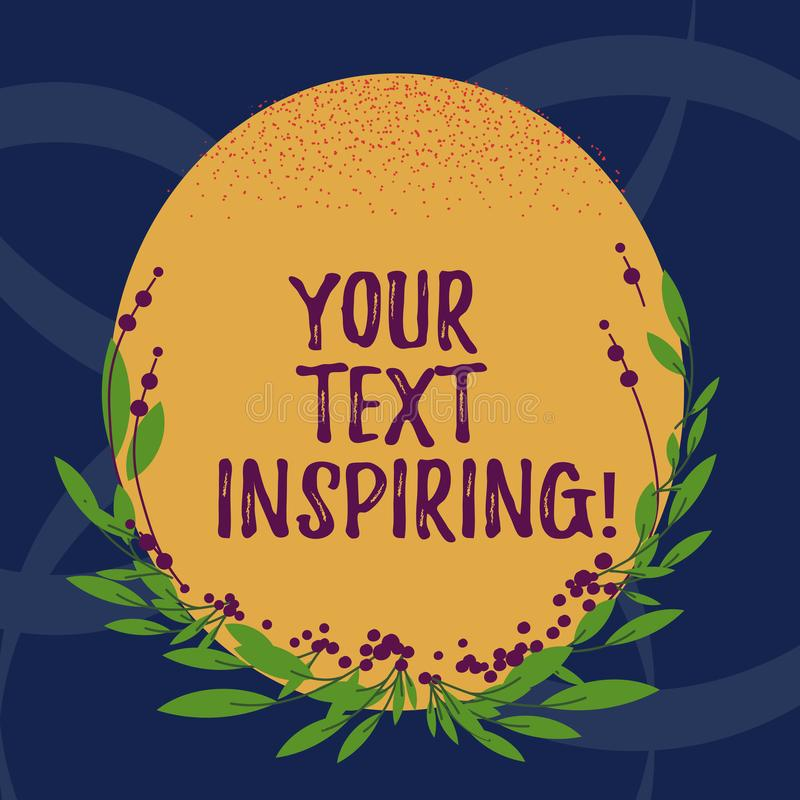 Κείμενο γραψίματος λέξης η έμπνευση κειμένων σας Η επιχειρησιακή έννοια για τις λέξεις σας κάνει τη διέγερση αίσθησης και το έντο διανυσματική απεικόνιση