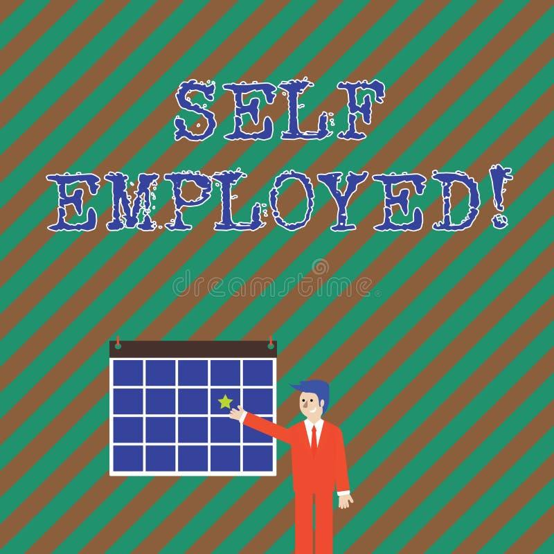 Κείμενο γραψίματος λέξης μόνο - υιοθετημένος Επιχειρησιακή έννοια για τον ιδιοκτήτη μιας επιχείρησης παρά για έναν εργοδότη Freel διανυσματική απεικόνιση