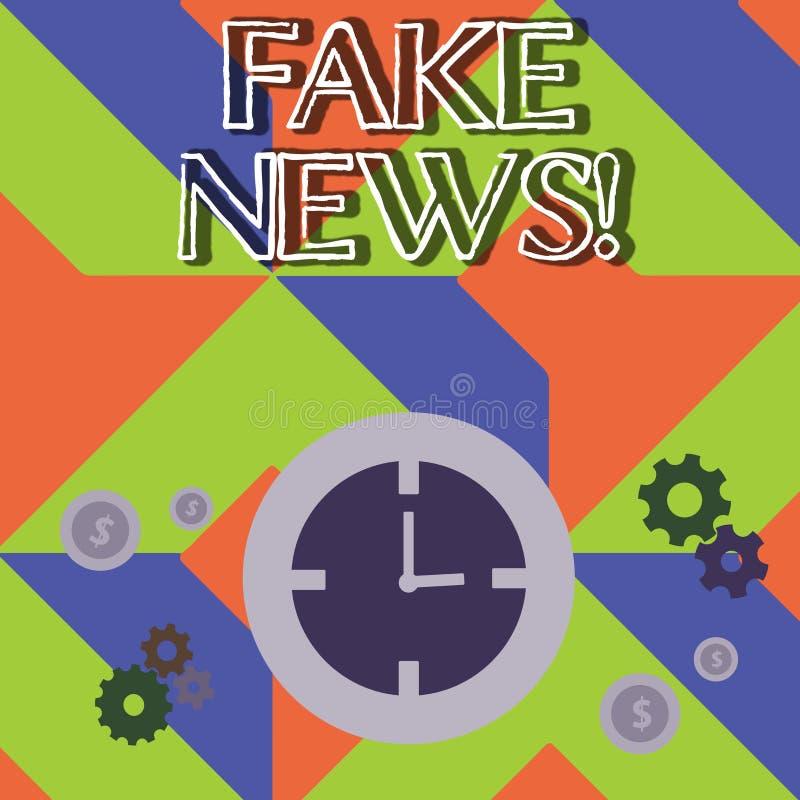 Κείμενο γραψίματος λέξης πλαστές ειδήσεις Επιχειρησιακή έννοια για τις ψεύτικες ιστορίες που εμφανίζονται να διαδίδουν στο διαδίκ απεικόνιση αποθεμάτων