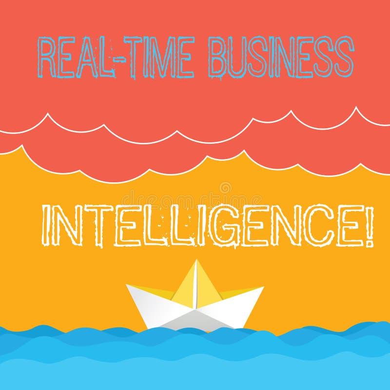 Κείμενο γραψίματος λέξης πραγματικό - χρονική επιχειρηματική κατασκοπεία Επιχειρησιακή έννοια για τις πληροφορίες για τα βαριά σύ απεικόνιση αποθεμάτων