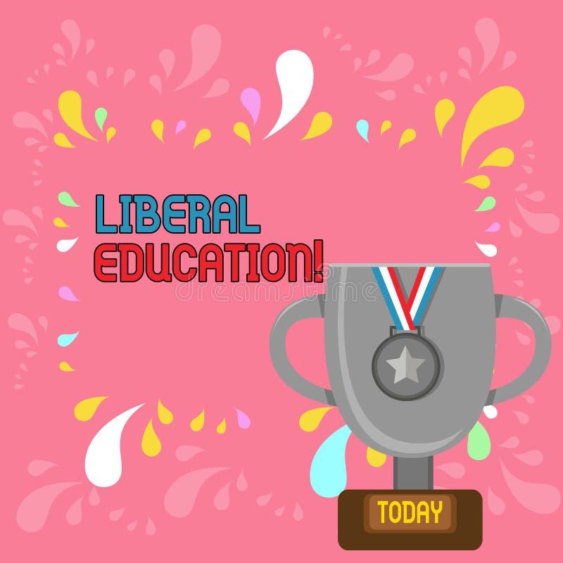 Κείμενο γραψίματος λέξης φιλελεύθερη εκπαίδευση Επιχειρησιακή έννοια για την εκπαίδευση κατάλληλη για την καλλιέργεια του ελεύθερ διανυσματική απεικόνιση