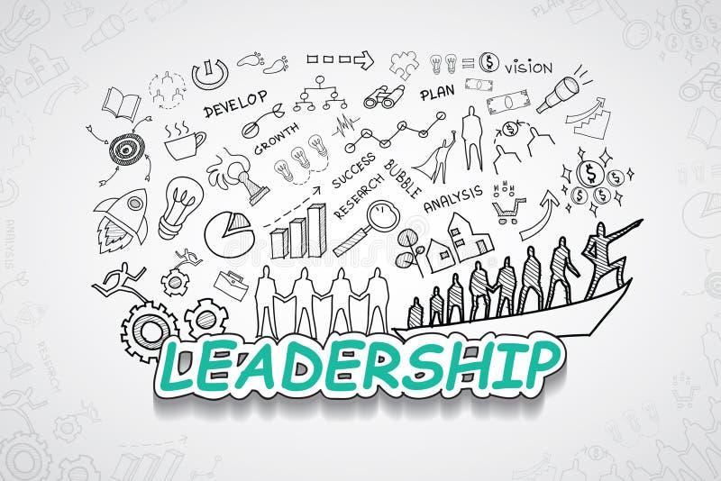 Κείμενο ηγεσίας, με τη δημιουργική ιδέα σχεδίων στρατηγικής επιχειρησιακής επιτυχίας διαγραμμάτων σχεδίων και γραφικών παραστάσεω στοκ φωτογραφία με δικαίωμα ελεύθερης χρήσης
