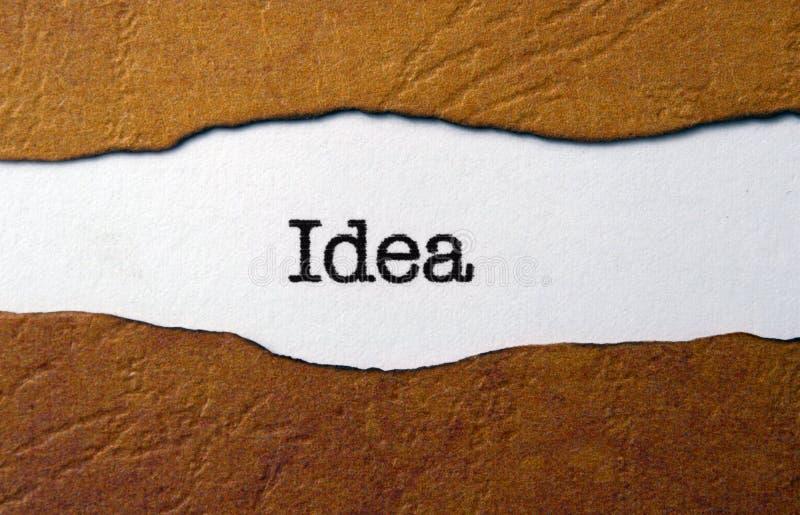 Κείμενο ιδέας σε σχισμένο χαρτί στοκ φωτογραφία με δικαίωμα ελεύθερης χρήσης