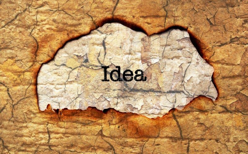 Κείμενο ιδέας στην τρύπα εγγράφου στοκ εικόνες με δικαίωμα ελεύθερης χρήσης