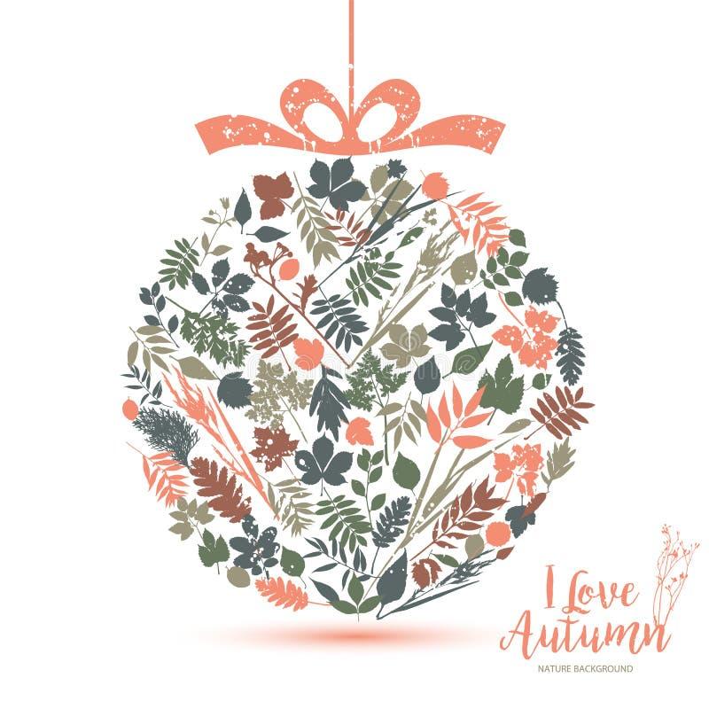 Κείμενο Ι φθινόπωρο αγάπης στο καλλιγραφικό συρμένο χέρι ύφος Πτώση και NA ελεύθερη απεικόνιση δικαιώματος