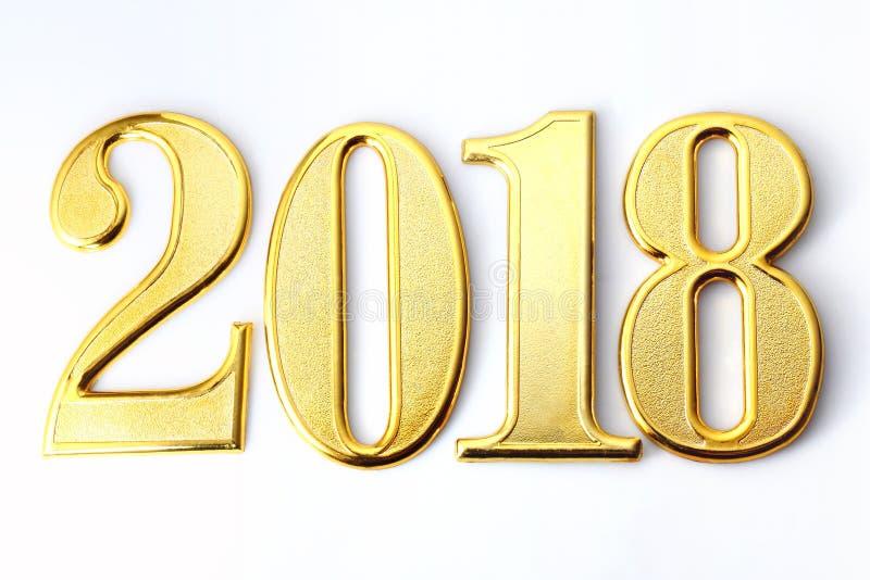 κείμενο και διακόσμηση 2018 χρυσό αριθμών στοκ φωτογραφία με δικαίωμα ελεύθερης χρήσης