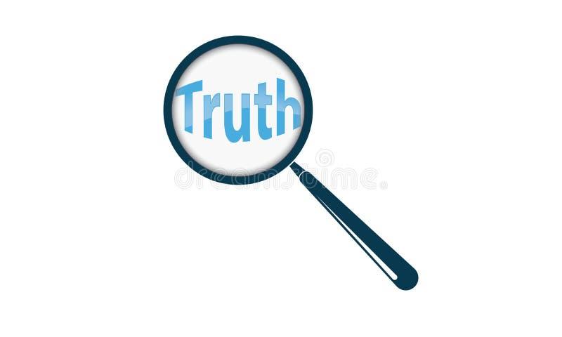Κείμενο και ενίσχυση αλήθειας - γυαλί ελεύθερη απεικόνιση δικαιώματος