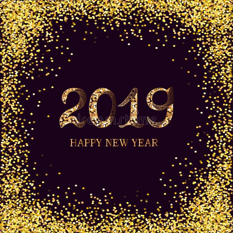 2019 κείμενο καλής χρονιάς ελεύθερη απεικόνιση δικαιώματος