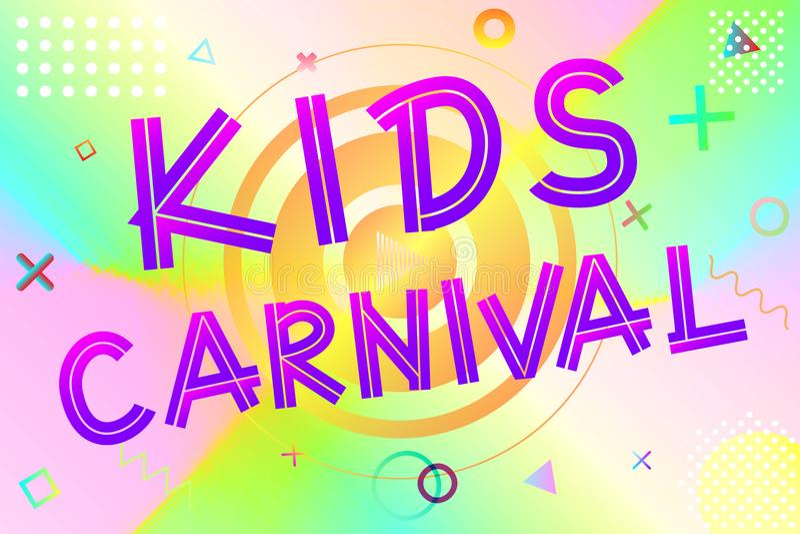 Κείμενο καρναβαλιού παιδιών απεικόνιση αποθεμάτων