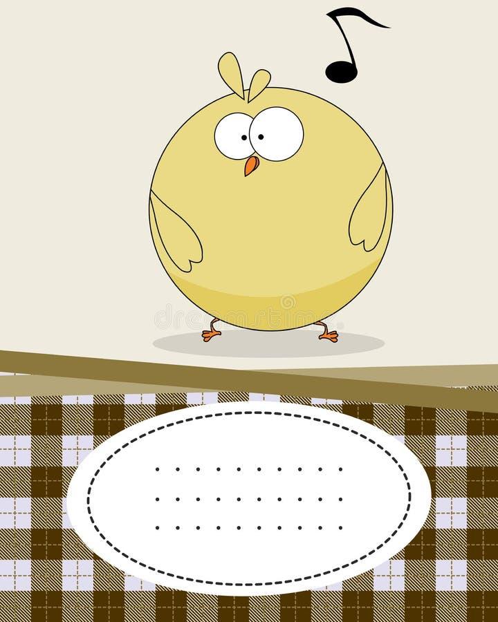 κείμενο κοτόπουλου καρτών μωρών διανυσματική απεικόνιση