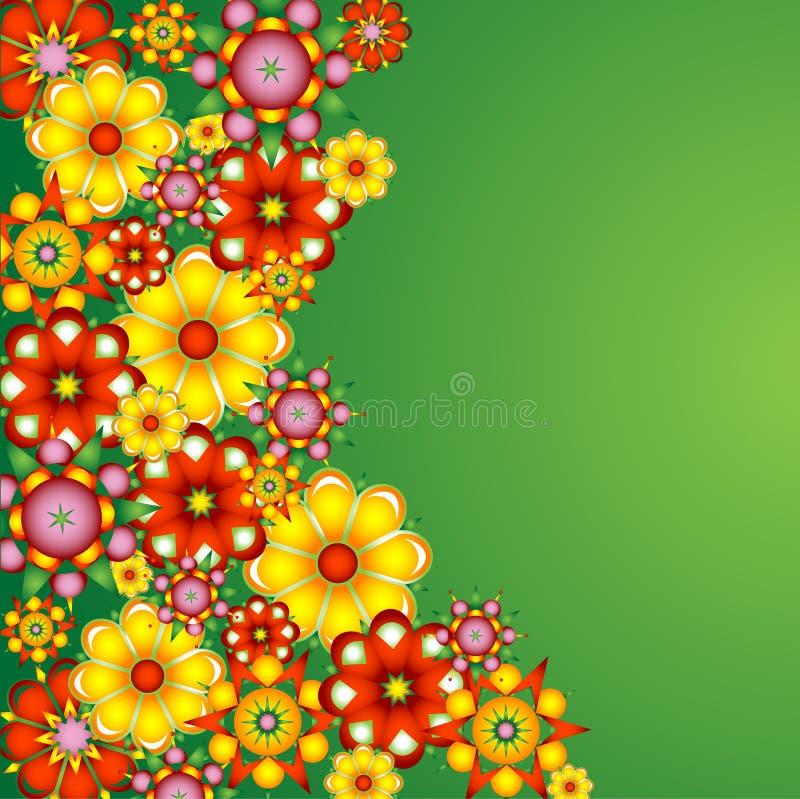 κείμενο λουλουδιών πεδίων ανασκόπησης απεικόνιση αποθεμάτων