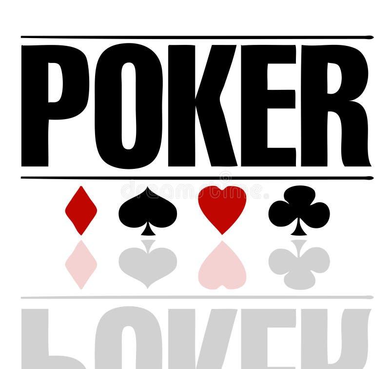 κείμενο πόκερ απεικόνιση αποθεμάτων