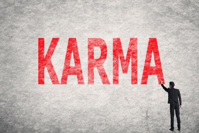 Κείμενο στον τοίχο, Karma στοκ φωτογραφία με δικαίωμα ελεύθερης χρήσης