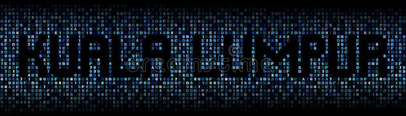 Κείμενο της Κουάλα Λουμπούρ στην απεικόνιση κώδικα δεκαεξαδικού ελεύθερη απεικόνιση δικαιώματος