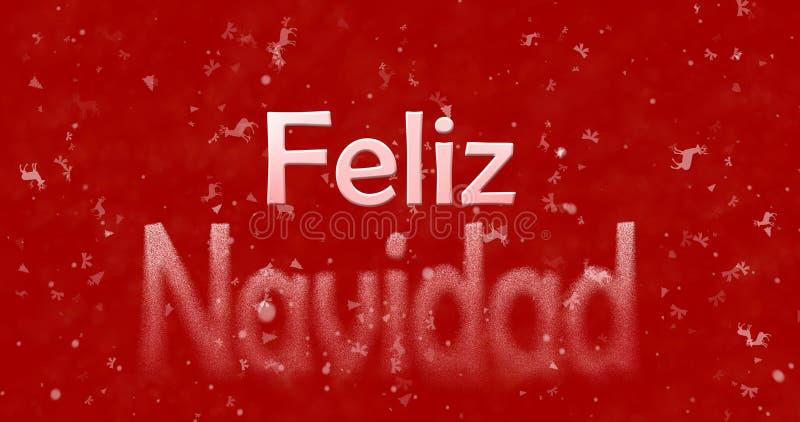 Κείμενο Χαρούμενα Χριστούγεννας στις ισπανικές στροφές Feliz Navidad στη σκόνη FR στοκ εικόνα με δικαίωμα ελεύθερης χρήσης