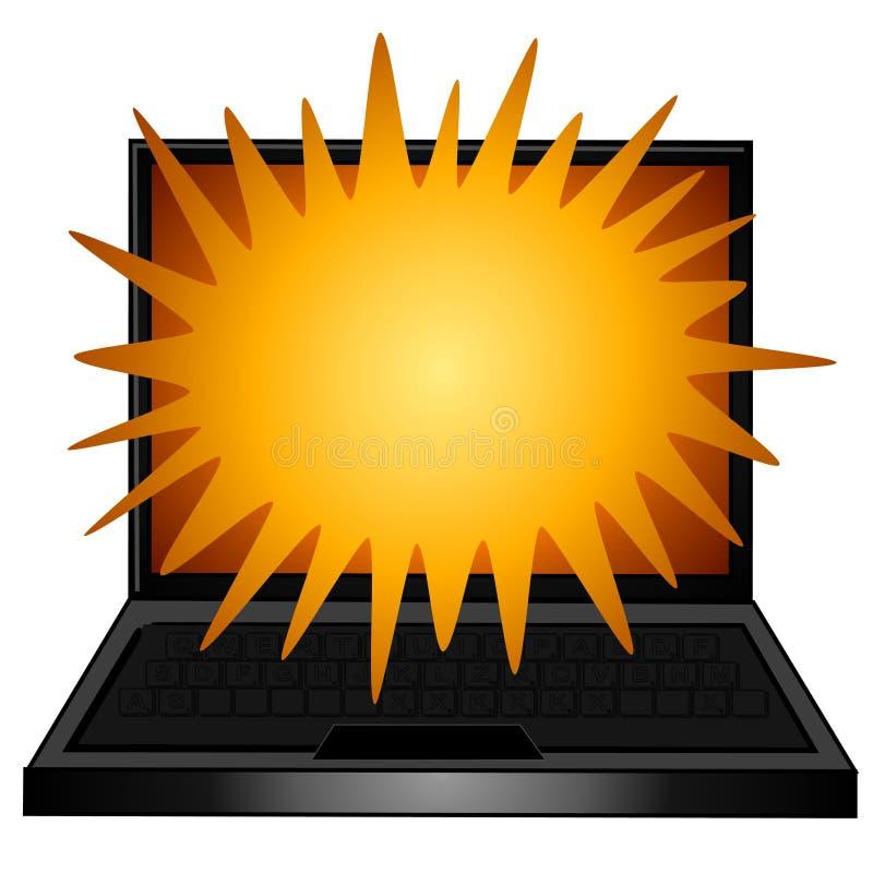 κείμενο lap-top υπολογιστών ελεύθερη απεικόνιση δικαιώματος
