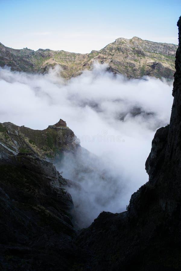 Κεκλιμένοι λόφοι στη Μαδέρα στοκ εικόνες