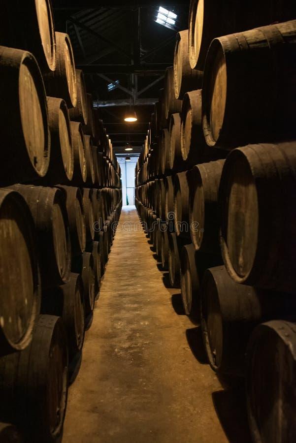 Κελάρια κρασιού του Πόρτο στο Πόρτο Πορτογαλία στοκ φωτογραφία