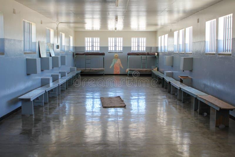 Κελί φυλακής της φυλακής νησιών Robben στοκ φωτογραφίες με δικαίωμα ελεύθερης χρήσης