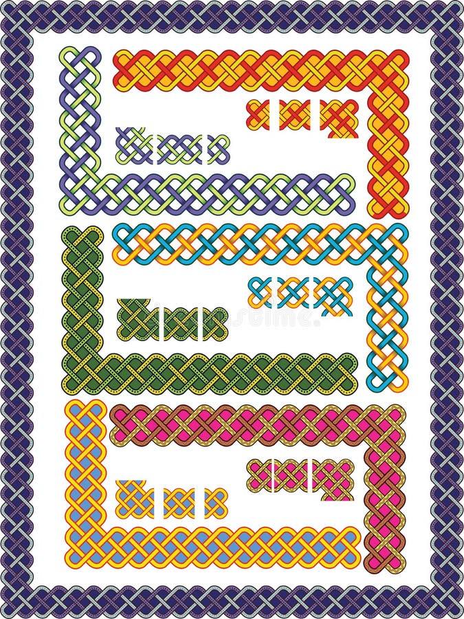 κελτικά πρότυπα πλαισίων π& απεικόνιση αποθεμάτων