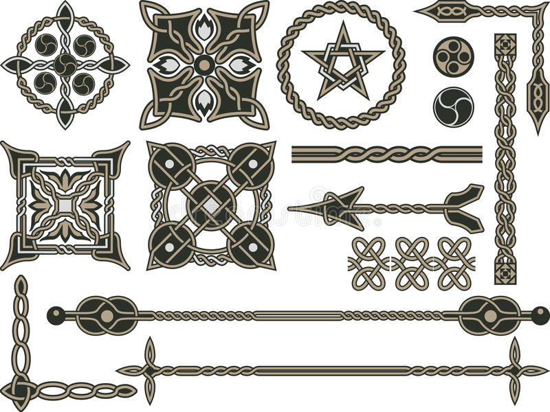 κελτικά στοιχεία παραδοσιακά στοκ εικόνες