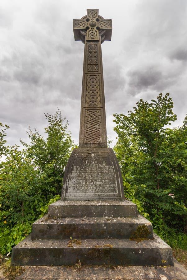 Κελτικό διαγώνιο μνημείο στη νεκρόπολη της Γλασκώβης, Σκωτία UK στοκ φωτογραφία