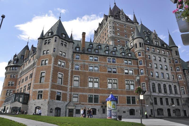 Κεμπέκ, στις 29 Ιουνίου: Frontenac Castle από την πόλη του Κεμπέκ στον Καναδά στοκ εικόνες με δικαίωμα ελεύθερης χρήσης